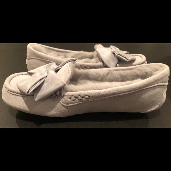 f7e030a97f4 Ugg Clara glam bow slipper moccasins gray sz 8 nib
